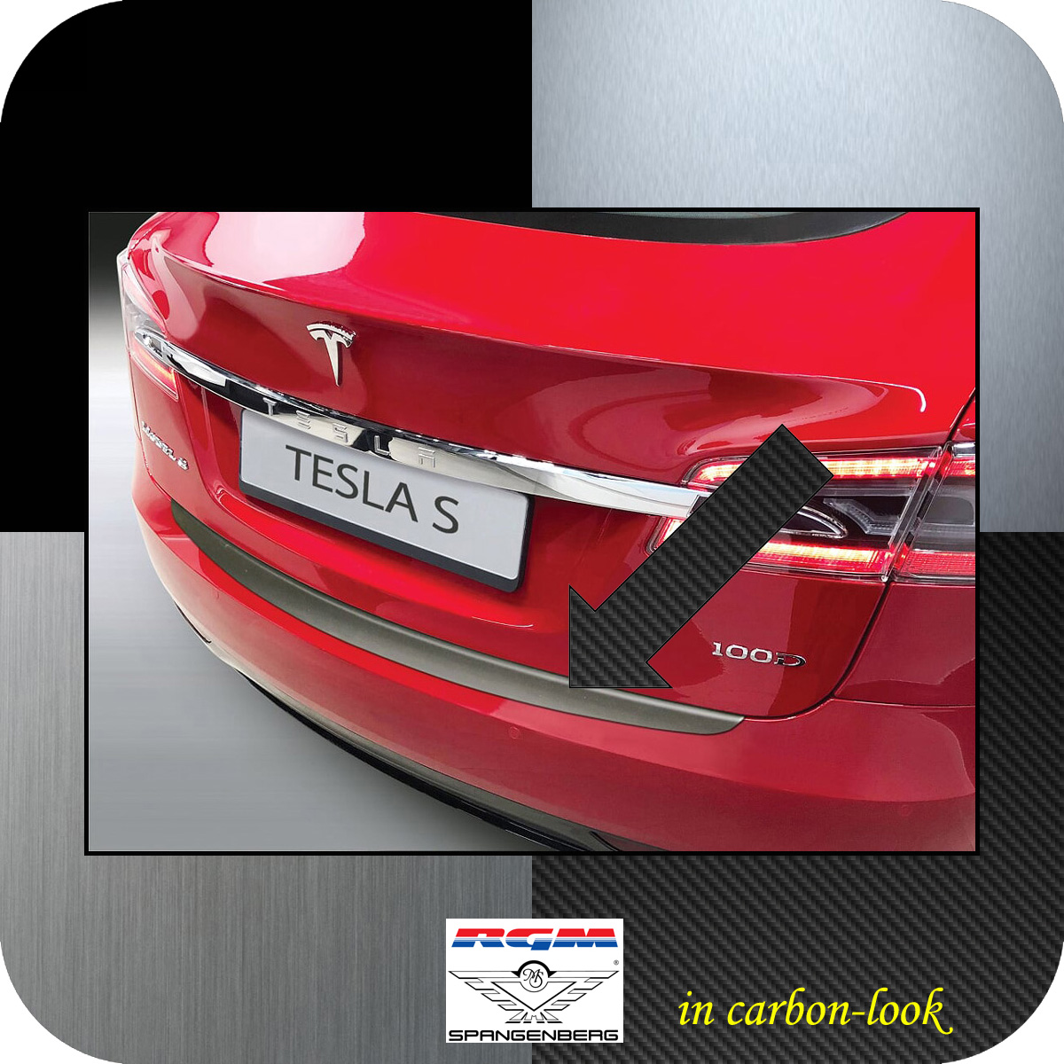 Ladekantenschutz Carbon-Look Tesla Model S ab Baujahr 06.2012- 3509658