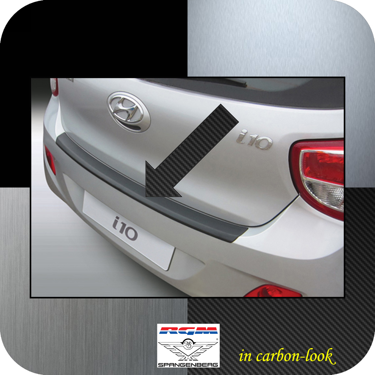 Ladekantenschutz Carbon-Look Hyundai i10 II Schrägheck ab 2013- 3509705