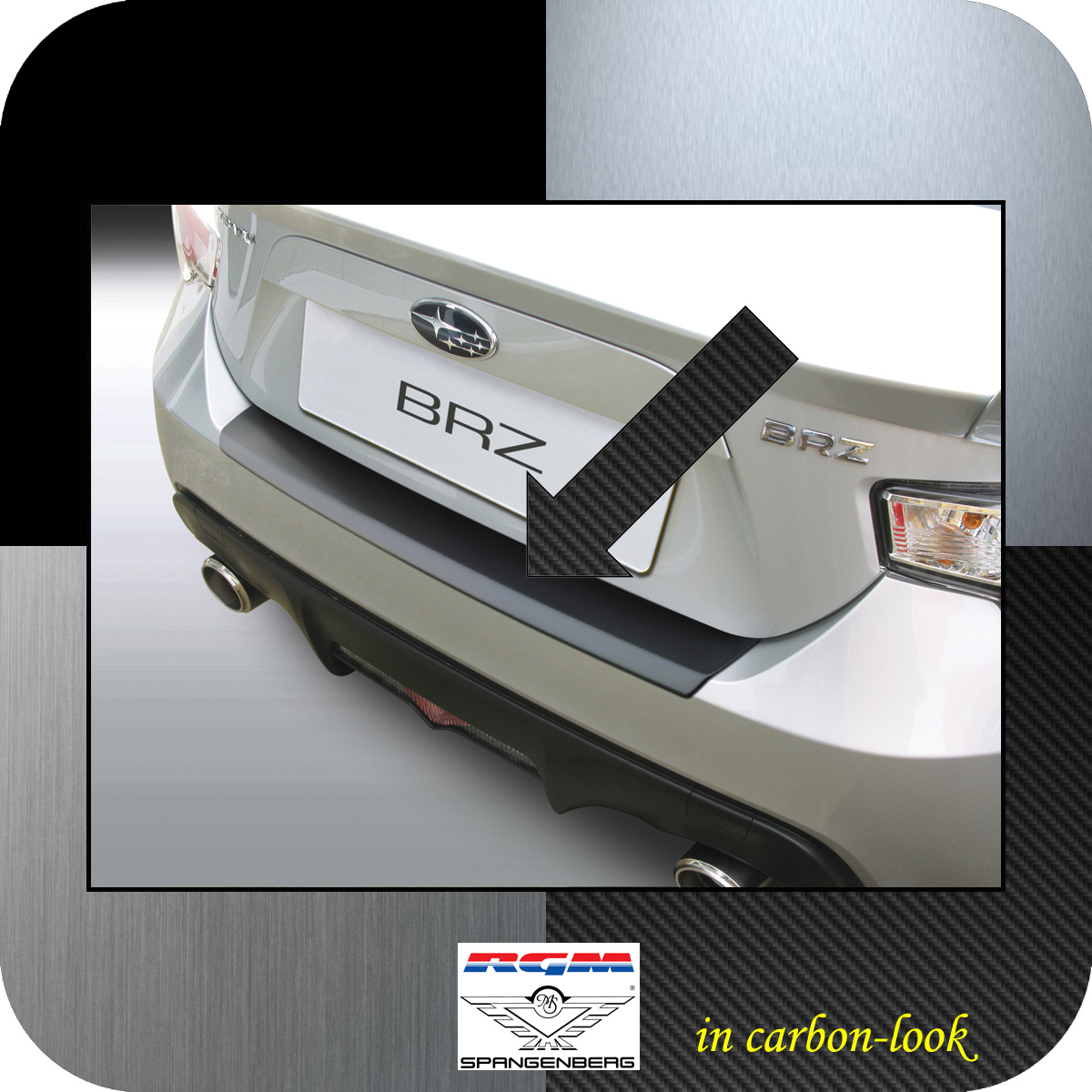 Ladekantenschutz Carbon-Look Subaru BRZ Sportwagen Coupe ab Bj 2012- 3509724