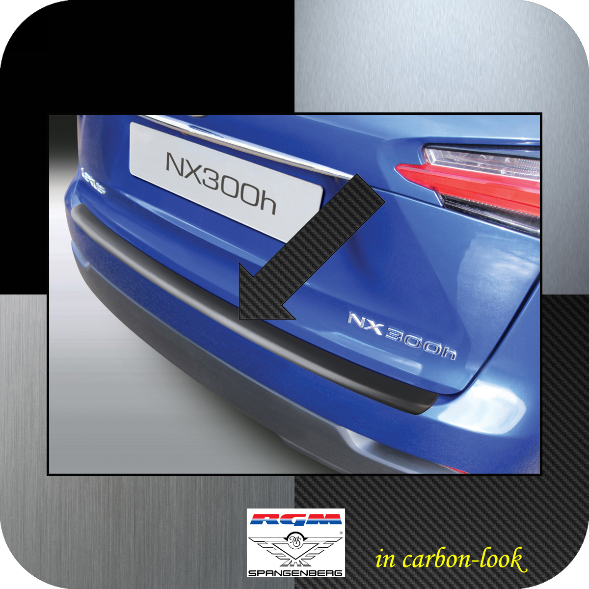 Ladekantenschutz Carbon-Look Lexus NX SUV Kombi ab Baujahr 2014- 3509787