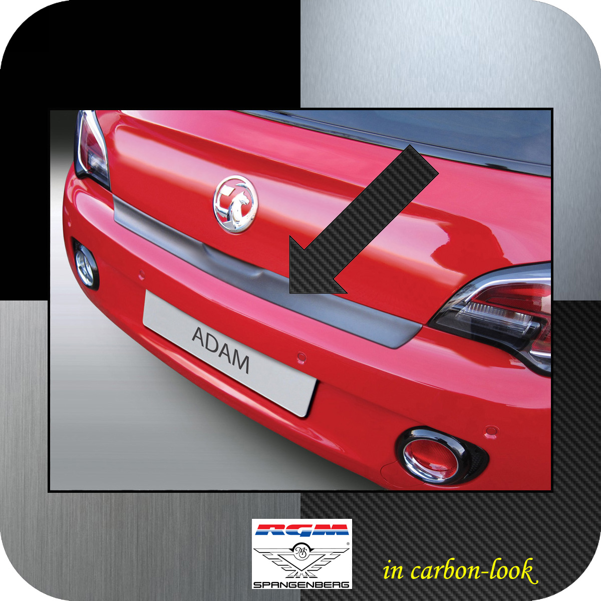 Ladekantenschutz Carbon-Look Opel Adam Schrägheck 3-Türer ab Bj 2012- 3509884