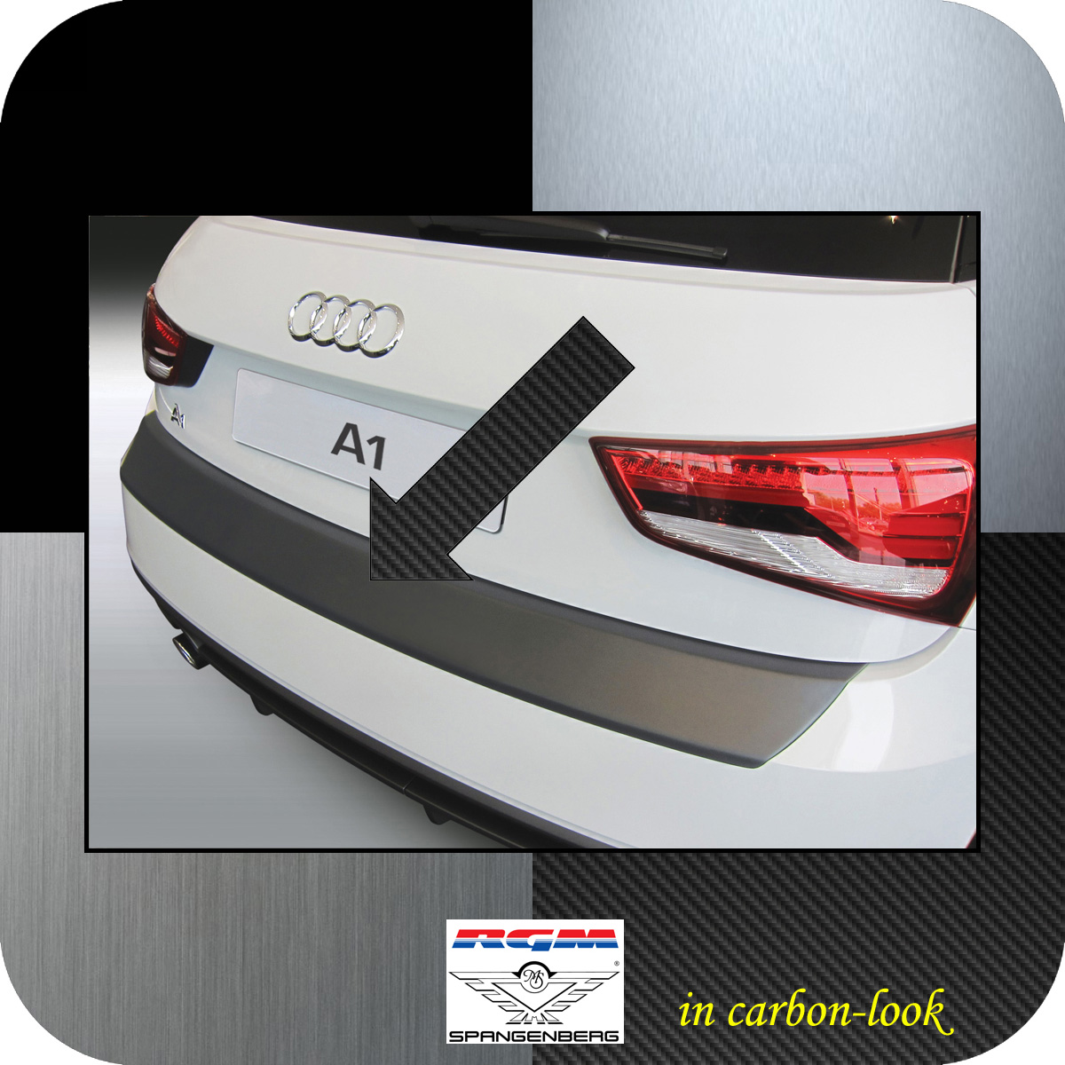 Ladekantenschutz Carbon-Look Audi A1 auch Sportback ab facelift 01.2015- 3509887