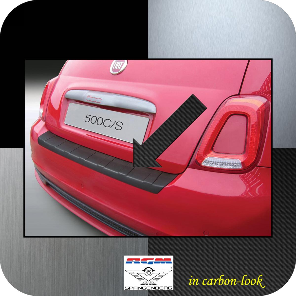 Ladekantenschutz Carbon-look Fiat 500S Schrägheck ab Baujahr 2016- 3509950