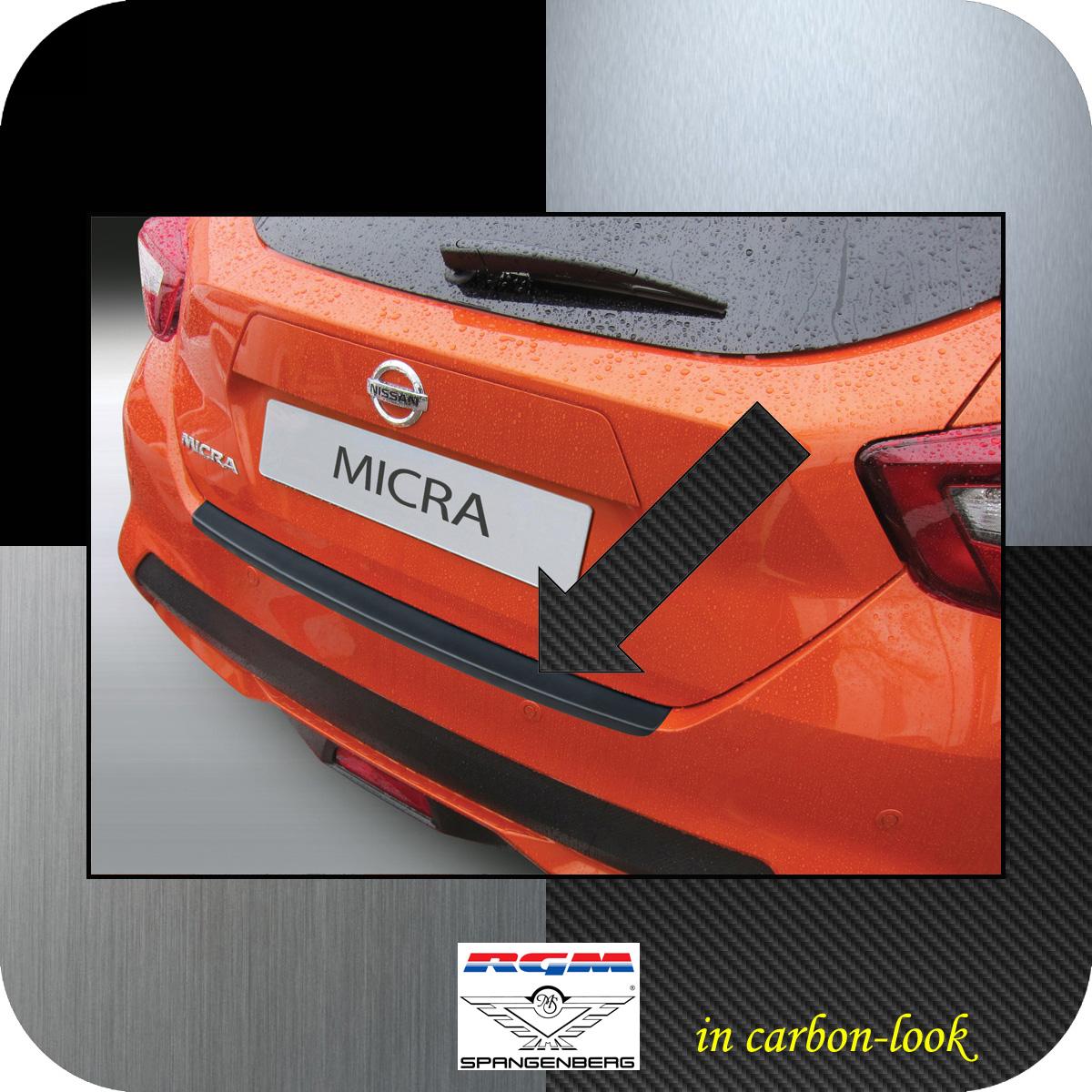Ladekantenschutz Carbon-Look Nissan Micra Schrägheck Typ K14 ab 12.2016- 3509993