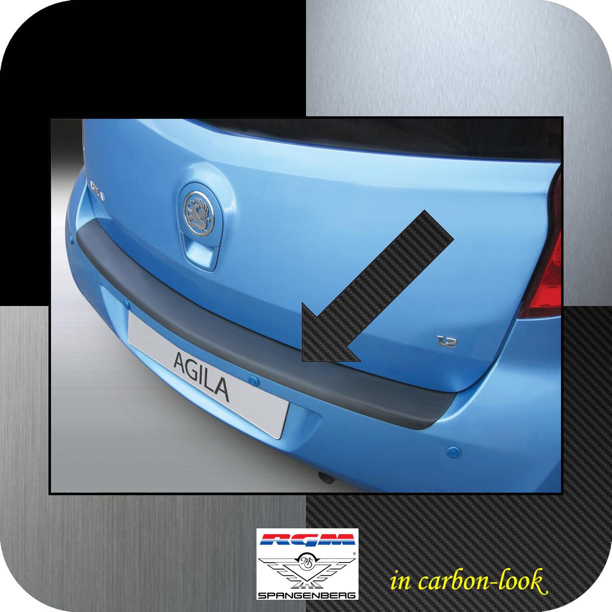 Ladekantenschutz Carbon-Look Opel Agila B Minivan Baujahre 3.2008-6.2015 3509994