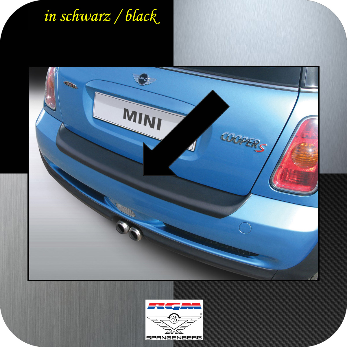 Ladekantenschutz schwarz Mini BMW One Cooper R50 und R53 2001-06 3500100