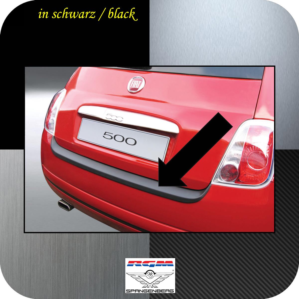 Ladekantenschutz schwarz Fiat 500 auch Cabrio vor Mopf 2007-2015 3500135