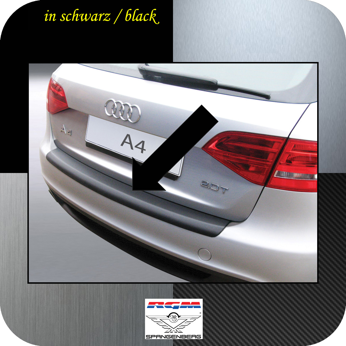 Ladekantenschutz schwarz Audi A4 B8 Avant Kombi vor facelift 2008-11 3500159