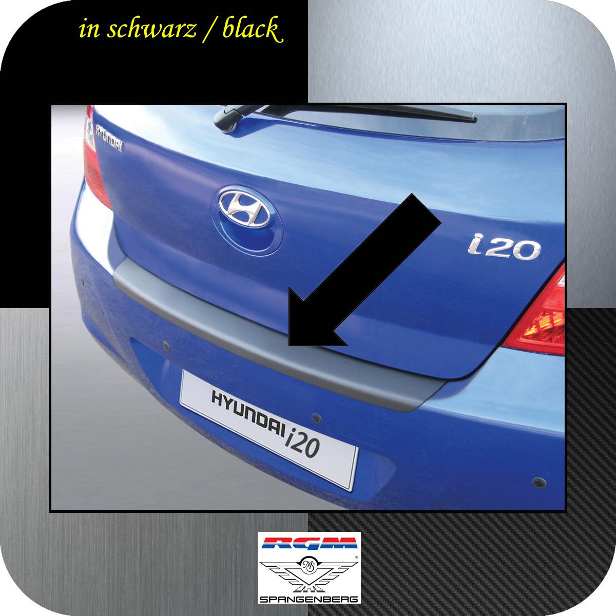 Ladekantenschutz schwarz Hyundai i20 I Schrägheck vor Mopf 2008-12 3500212
