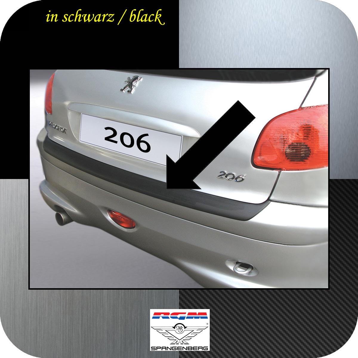 Ladekantenschutz schwarz Peugeot 206 und 206 CC ab Baujahr 1998- 3500291