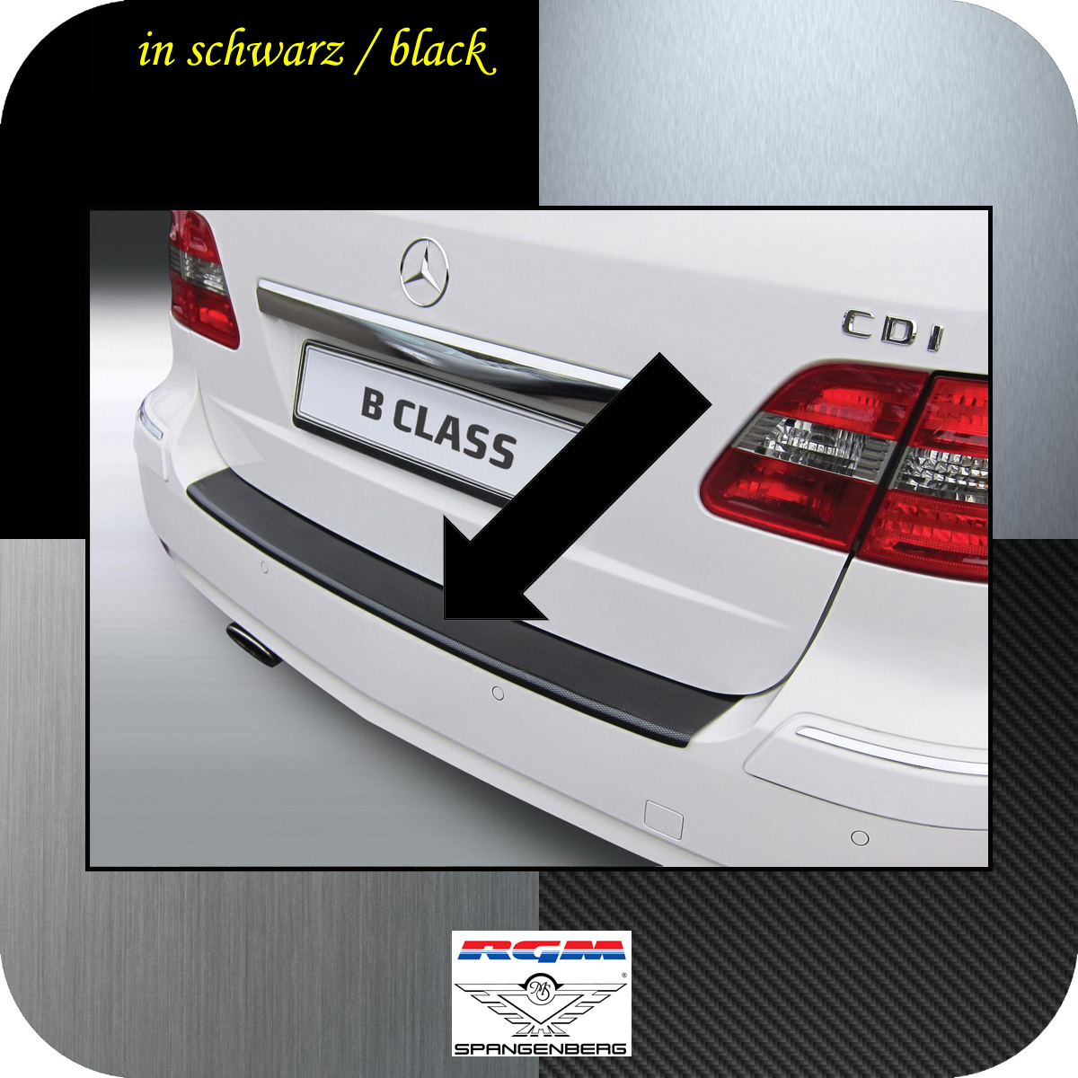 Ladekantenschutz schwarz Mercedes B-Klasse I T245 W245 2005-2011 3500308