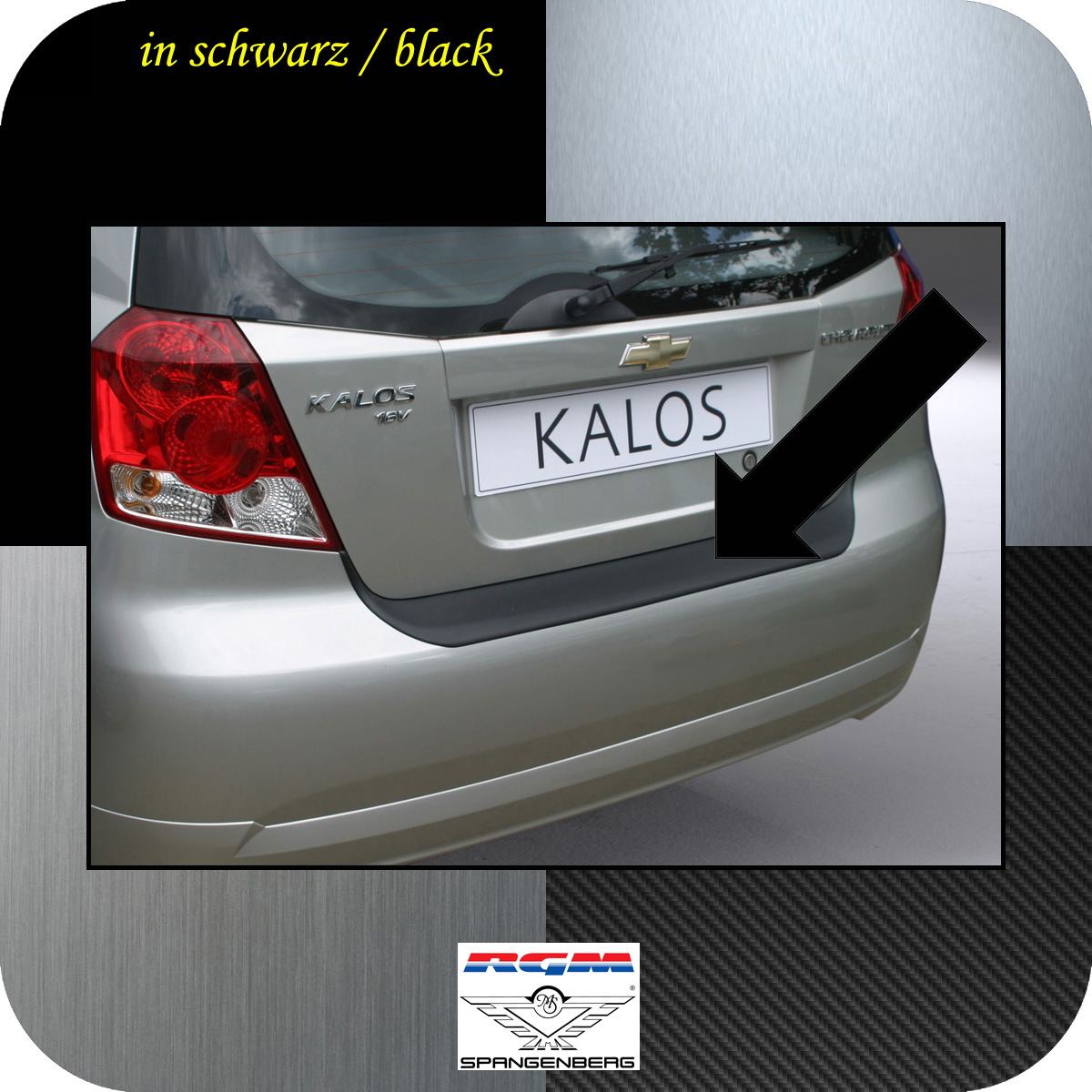 Ladekantenschutz schwarz Chevrolet Daewoo Kalos 5-Türer 2002-06 3500323