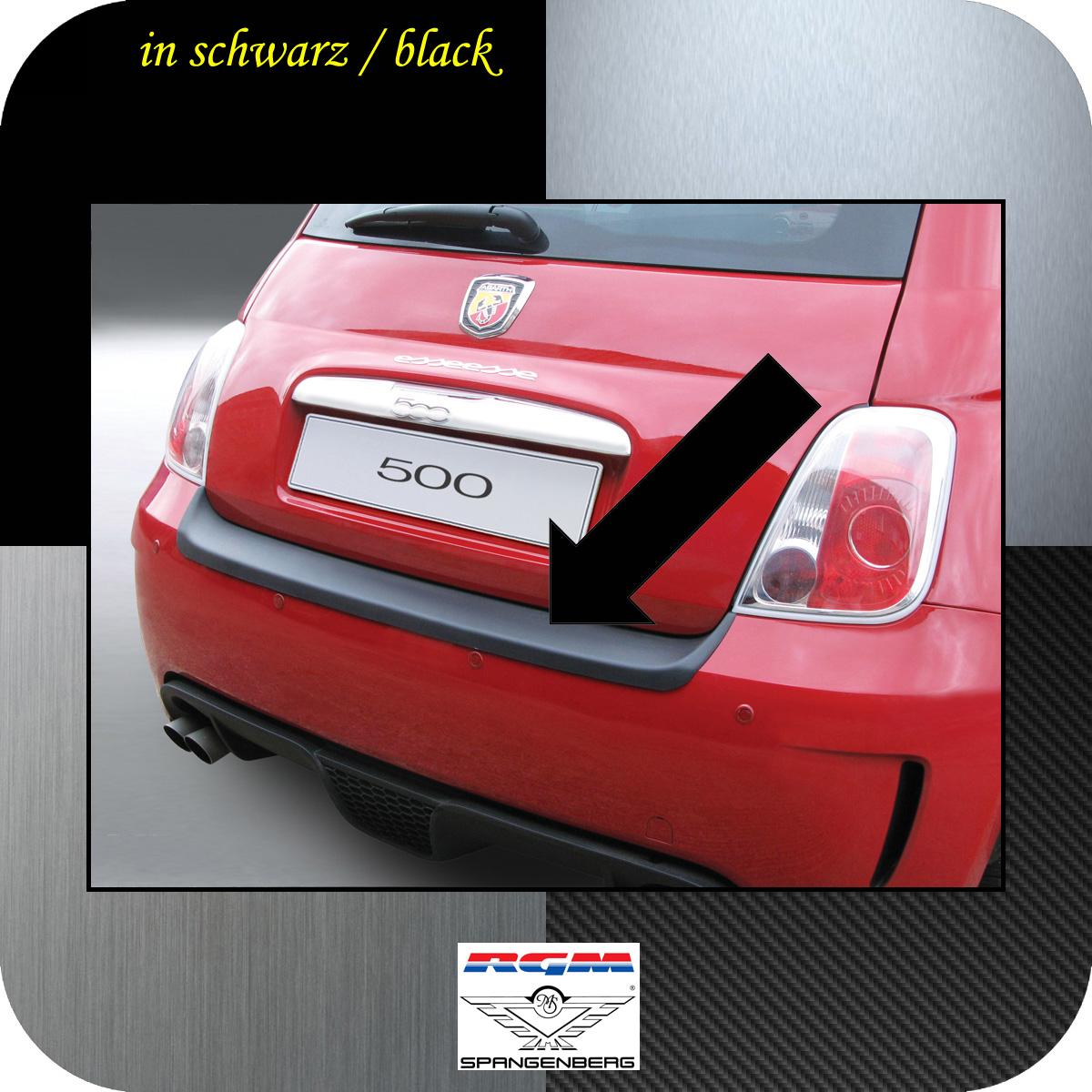 Ladekantenschutz schwarz Fiat 500 Version Abarth bis Baujahr 2016 3500476