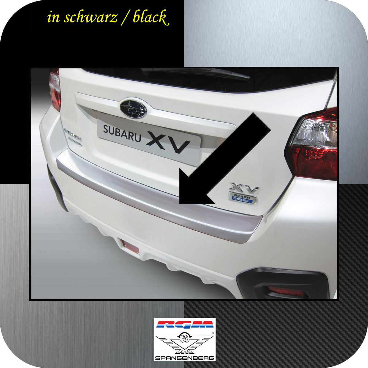 Ladekantenschutz schwarz Subaru BRZ Sportwagen Coupe ab Bj 2012- 3500724