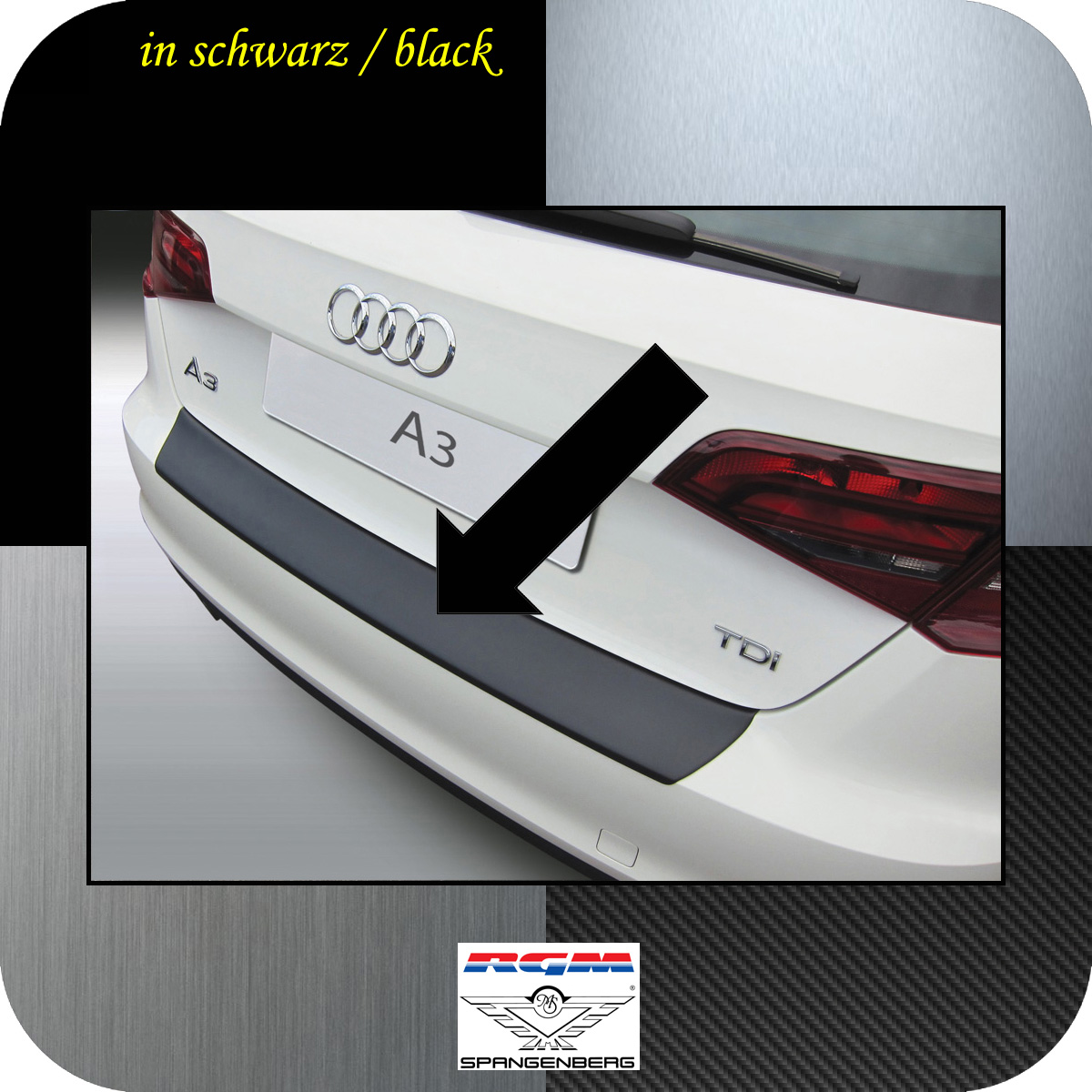 Ladekantenschutz schwarz Audi A3 Sportback auch S3 und RS3 ab 2012- 3500760
