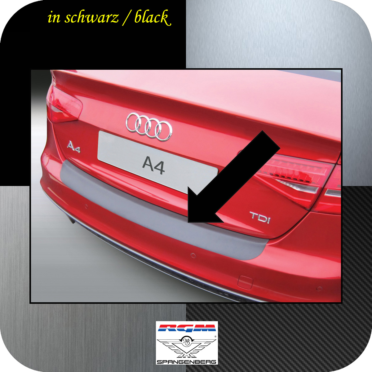 Ladekantenschutz schwarz Audi A4 B8 Limousine facelift 2012-2015 3500905