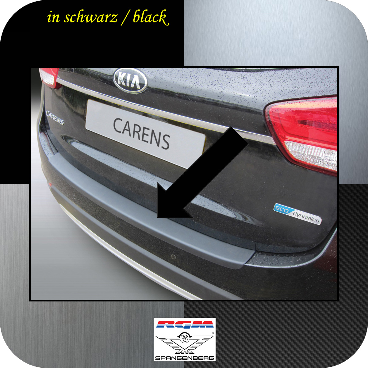 Ladekantenschutz schwarz Kia Carens IV Kombi ab 10.2016- 3500984