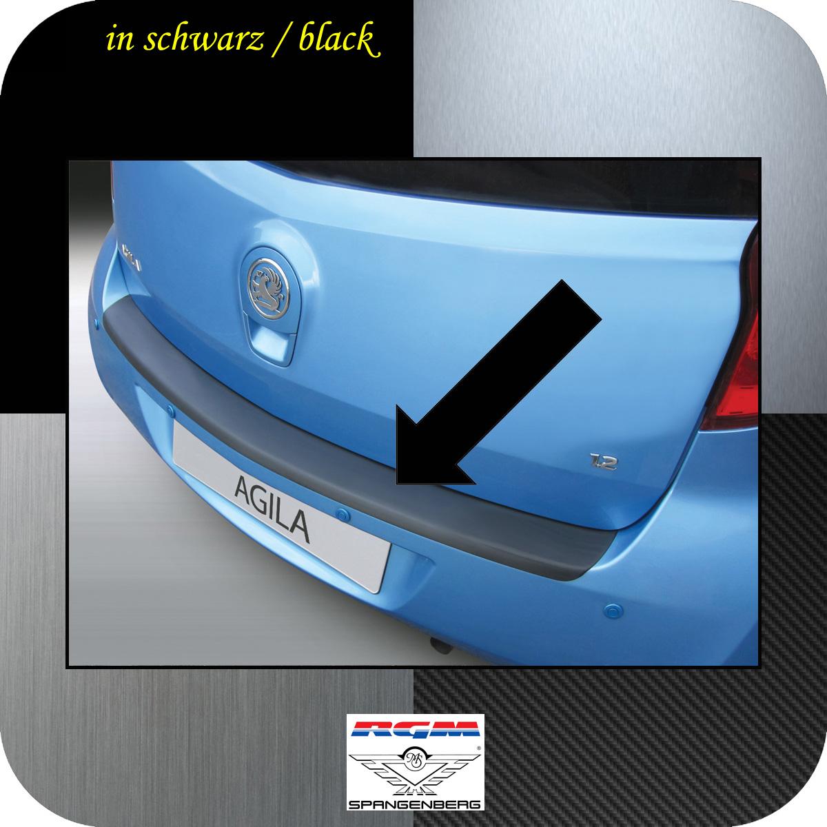 Ladekantenschutz schwarz Opel Agila B Minivan Baujahre 03.2008-06.2015 3500994
