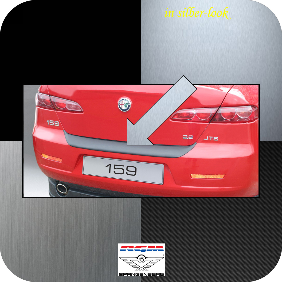 Ladekantenschutz Silber-Look Alfa Romeo 159 Limousine 4-Türer 2005-11 3506131