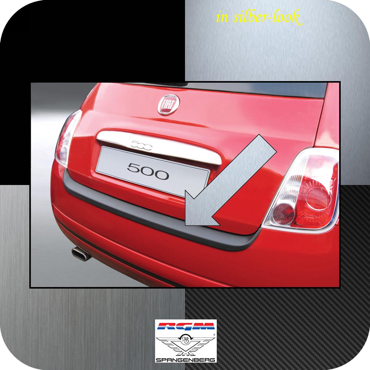 Ladekantenschutz Silber-Look Fiat 500 auch Cabrio vor Mopf 2007-2015 3506135