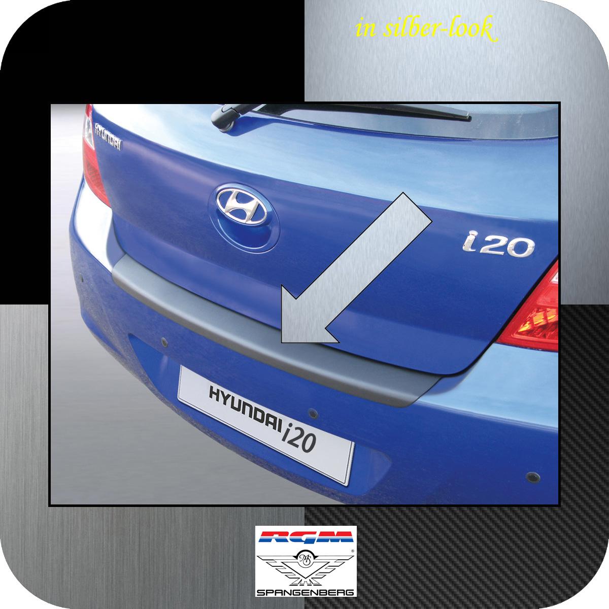 Ladekantenschutz Silber-Look Hyundai i20 I Schrägheck vor Mopf 2008-12 3506212