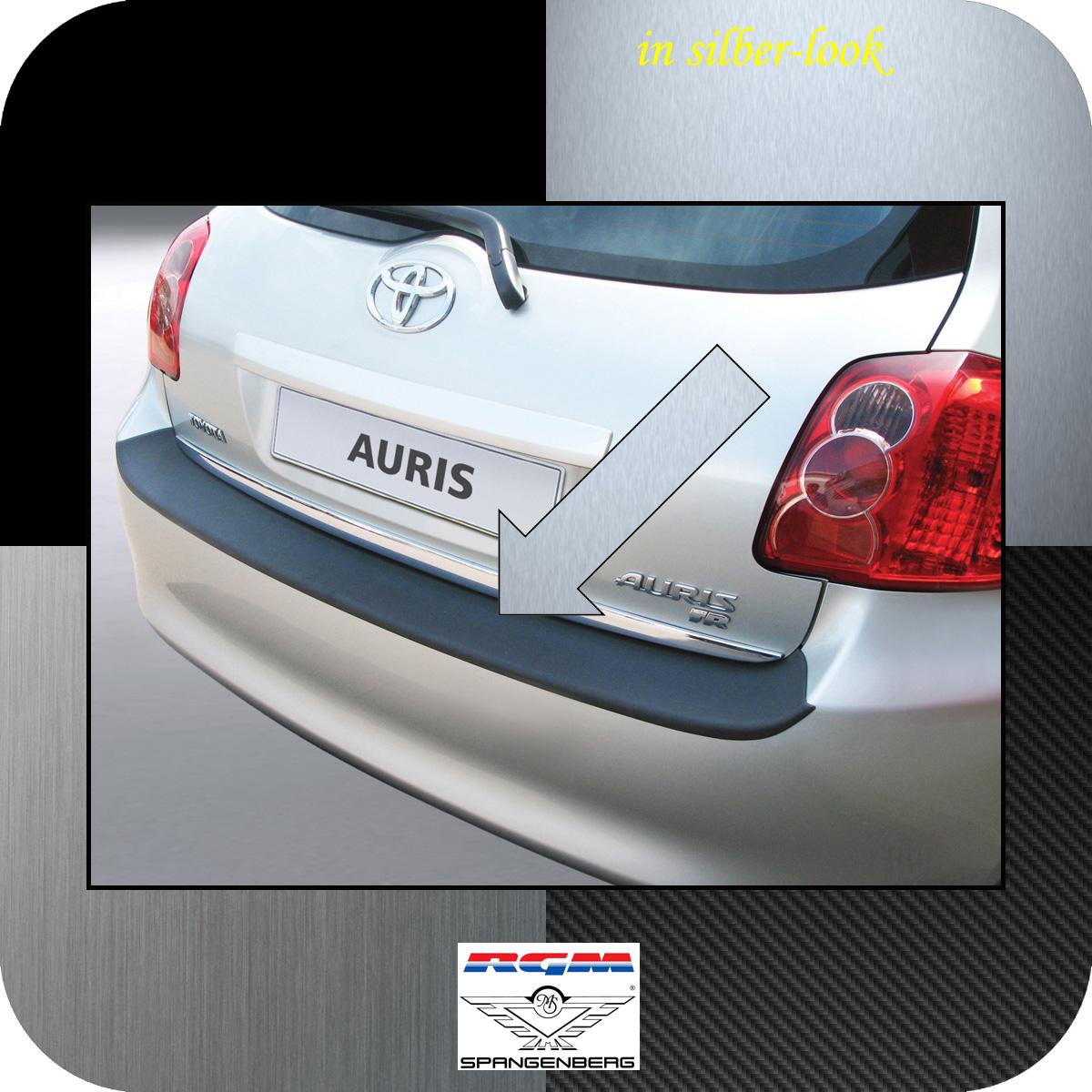 Ladekantenschutz Silber-Look Toyota Auris I Schrägheck vor Mopf 2006-10 3506264