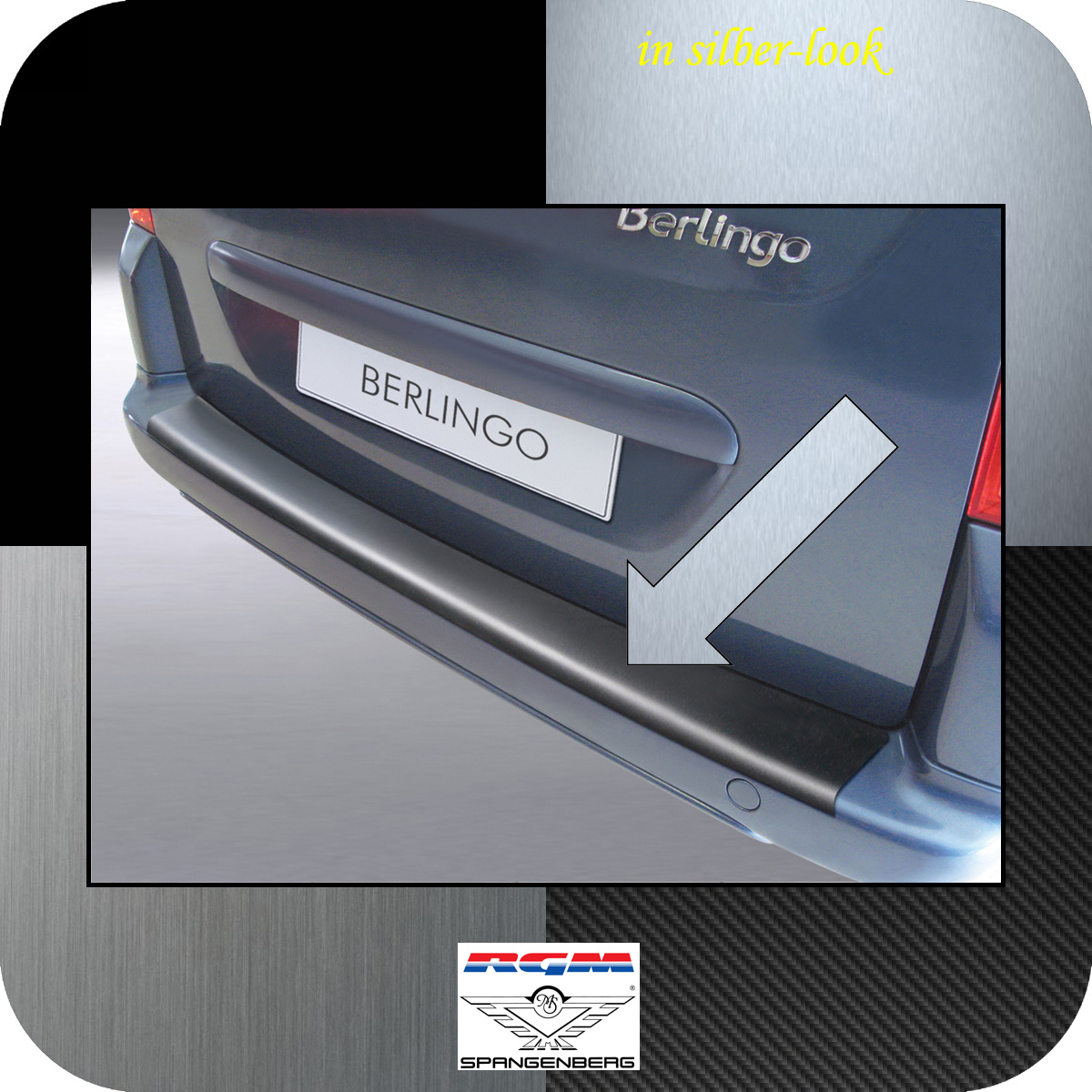 Ladekantenschutz Silber-Look Citroen Berlingo II III Multispace VTR ´08- 3506276