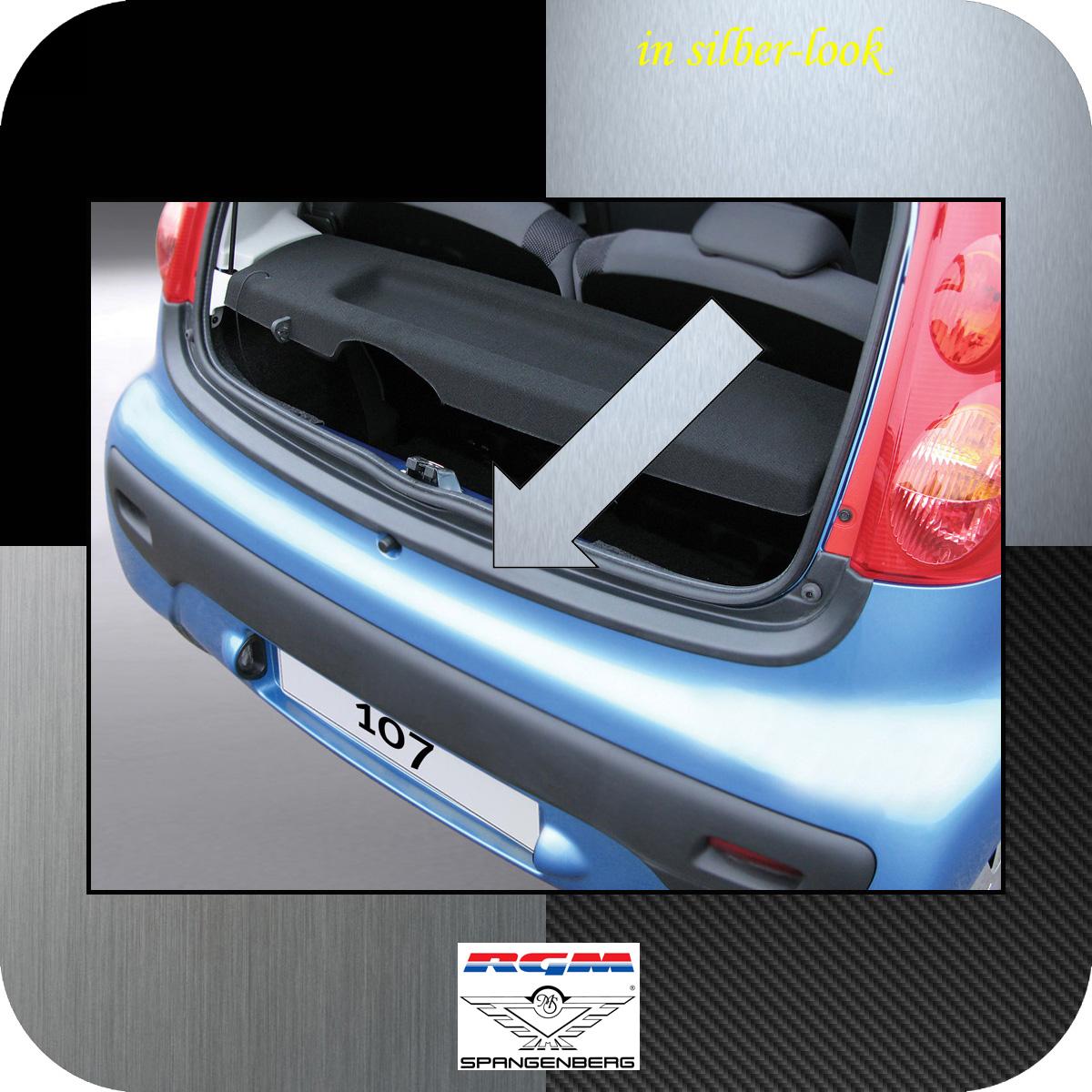 Ladekantenschutz Silber-Look Peugeot 107 Schrägheck ab Baujahr 2005- 3506290
