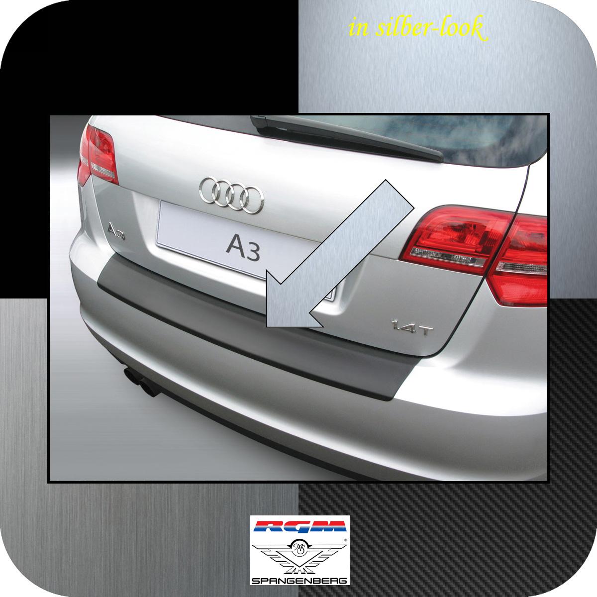 Ladekantenschutz Silber-Look Audi A3 Sportback auch S3 ab Mopf 2008-13 3506362