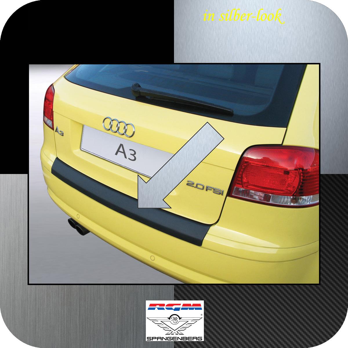 Ladekantenschutz Silber-Look Audi A3 Schrägheck vor facelift II 2003-08 3506366