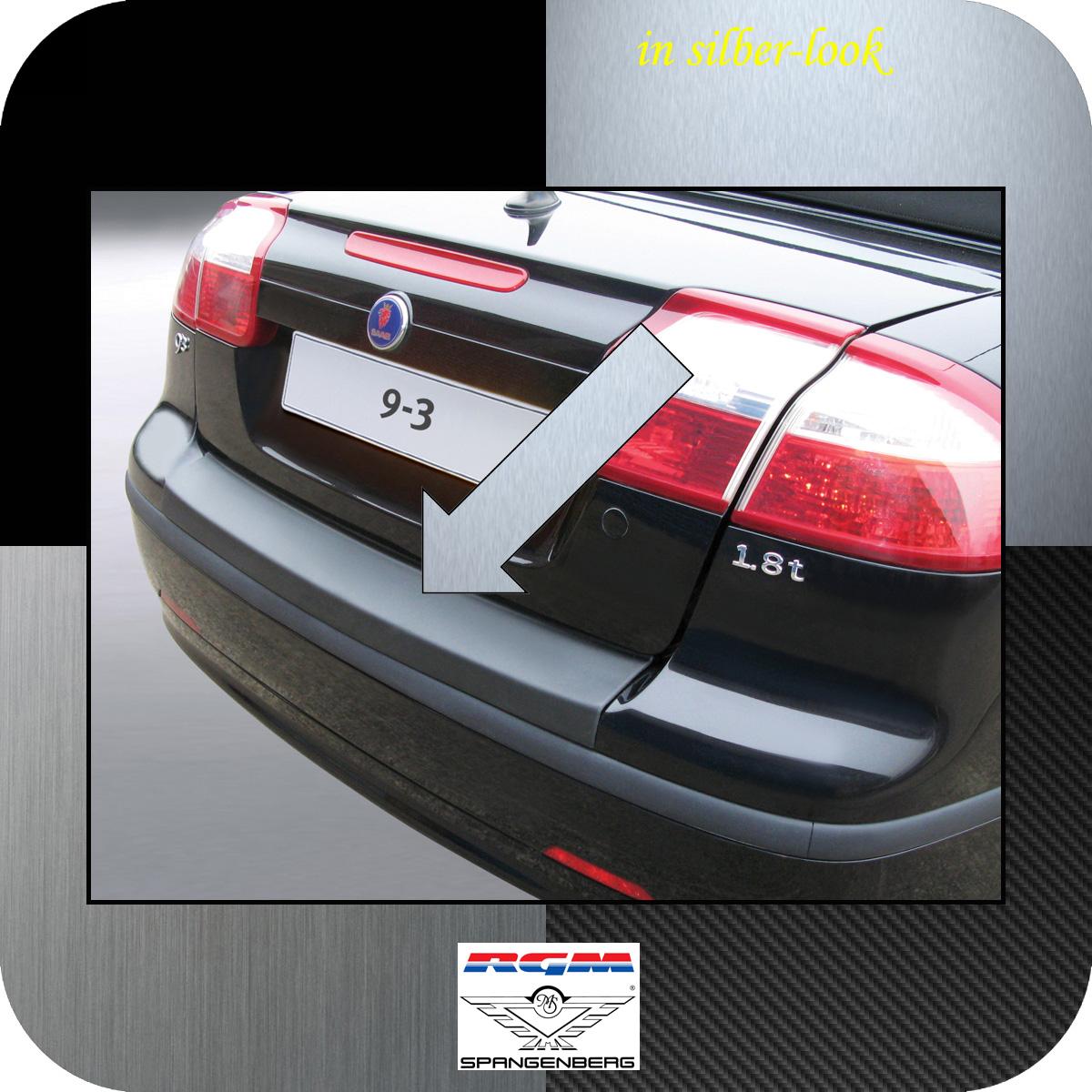 Ladekantenschutz Silber-Look Saab 9-3 II Cabrio 2-türig vor Mopf 2003-07 3506403