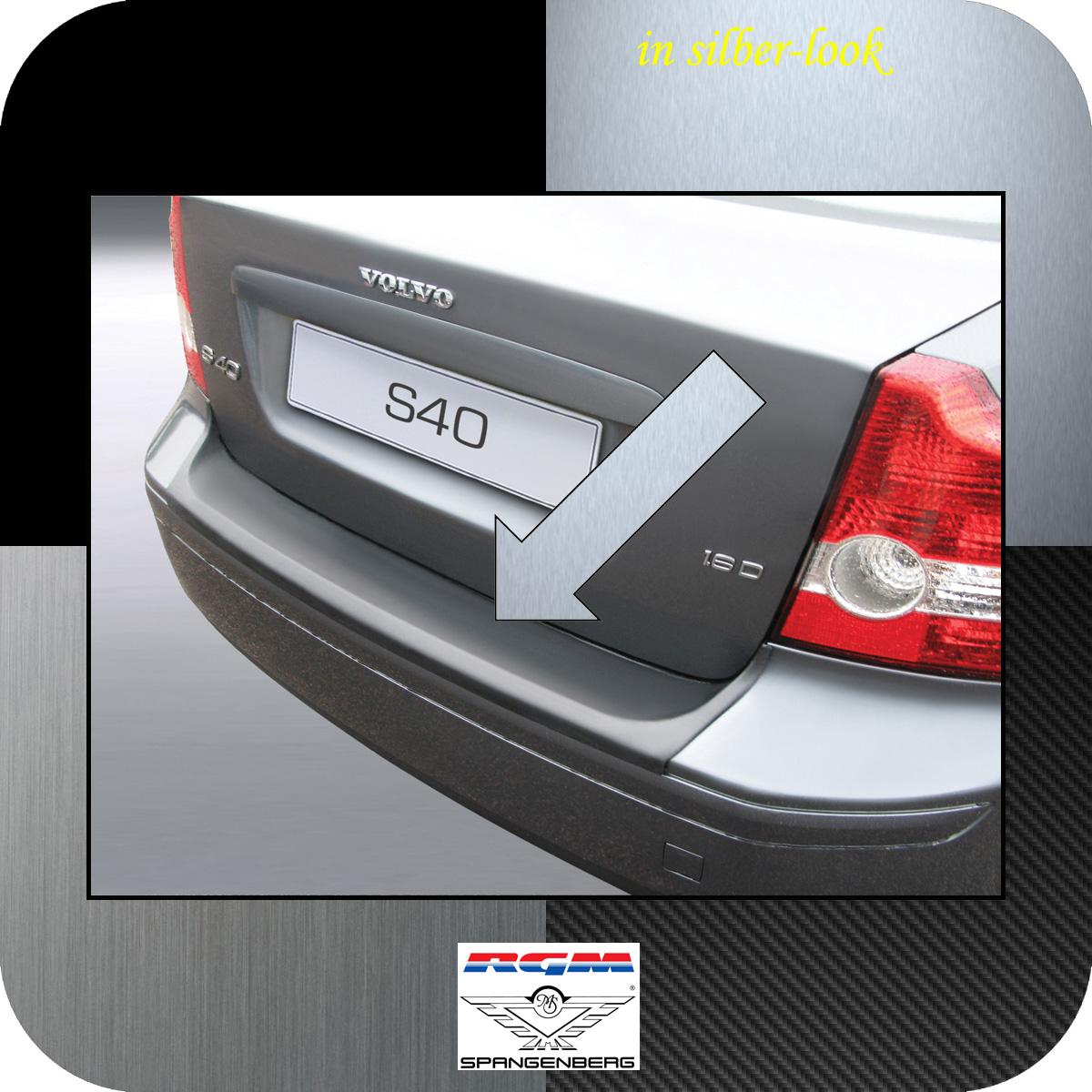 Ladekantenschutz Silber-Look Volvo S40 II Limousine vor Mopf 2004-2007 3506417