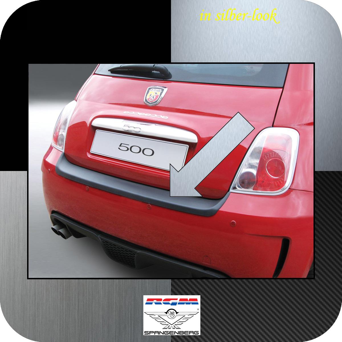 Ladekantenschutz Silber-Look Fiat 500 Version Abarth bis Baujahr 2016 3506476