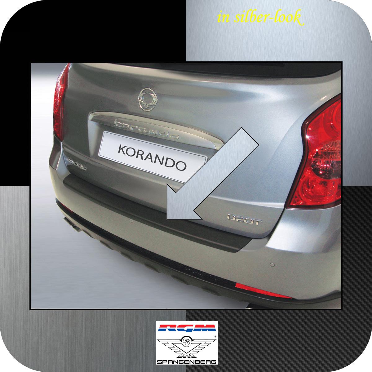 Ladekantenschutz Silber-Look SsangYong Korando SUV Kombi ab Bauj 2010- 3506489
