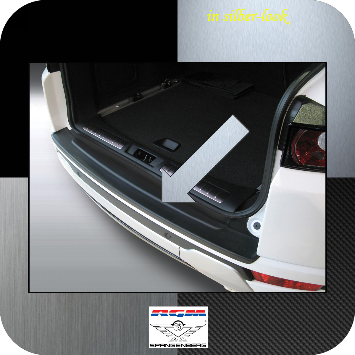 Ladekantenschutz Silber-Look Land Rover Range Rover Evoque 3-Türer 2011- 3506583