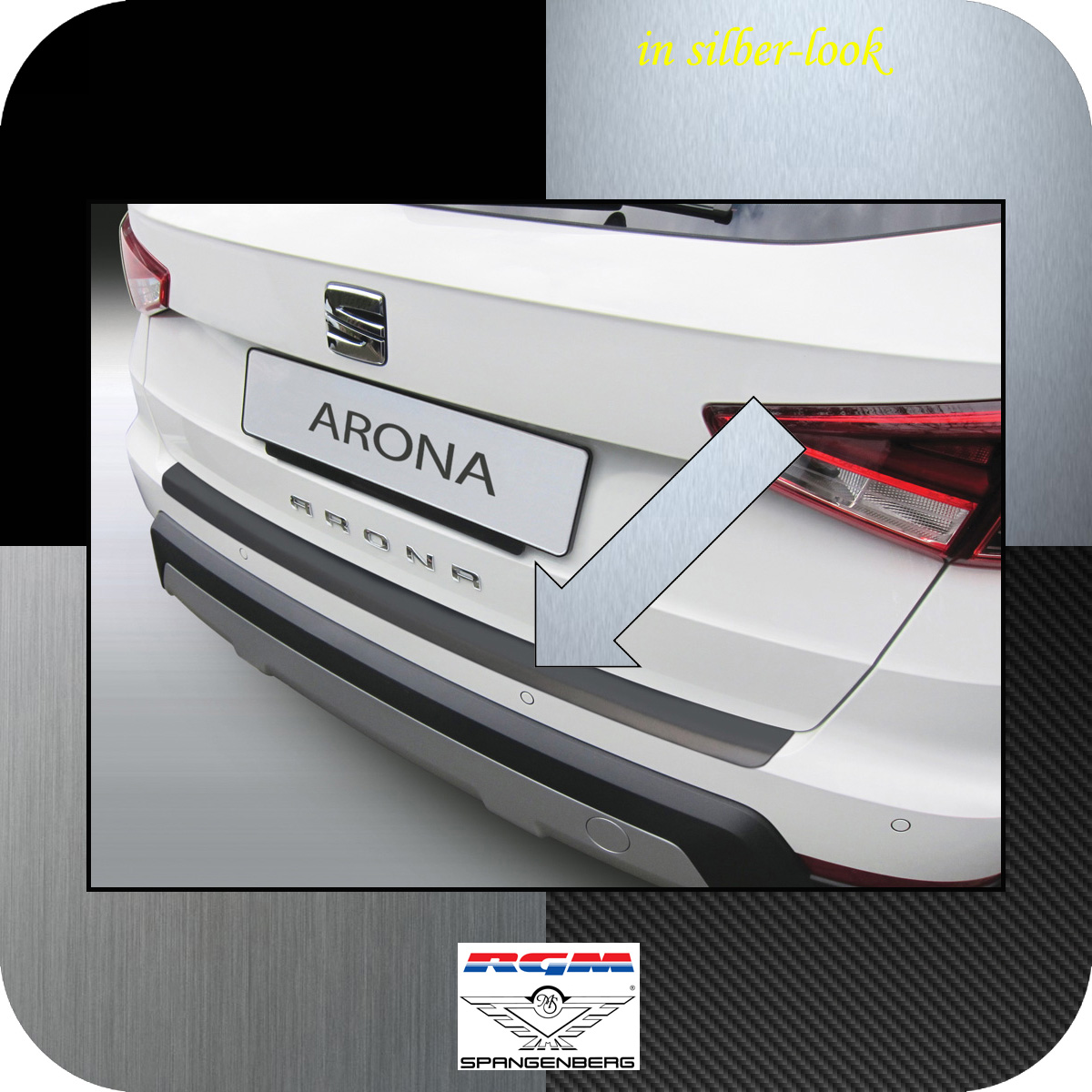 Ladekantenschutz Silber-Look Seat Arona SUV Crossover ab 11.2017- 3506624