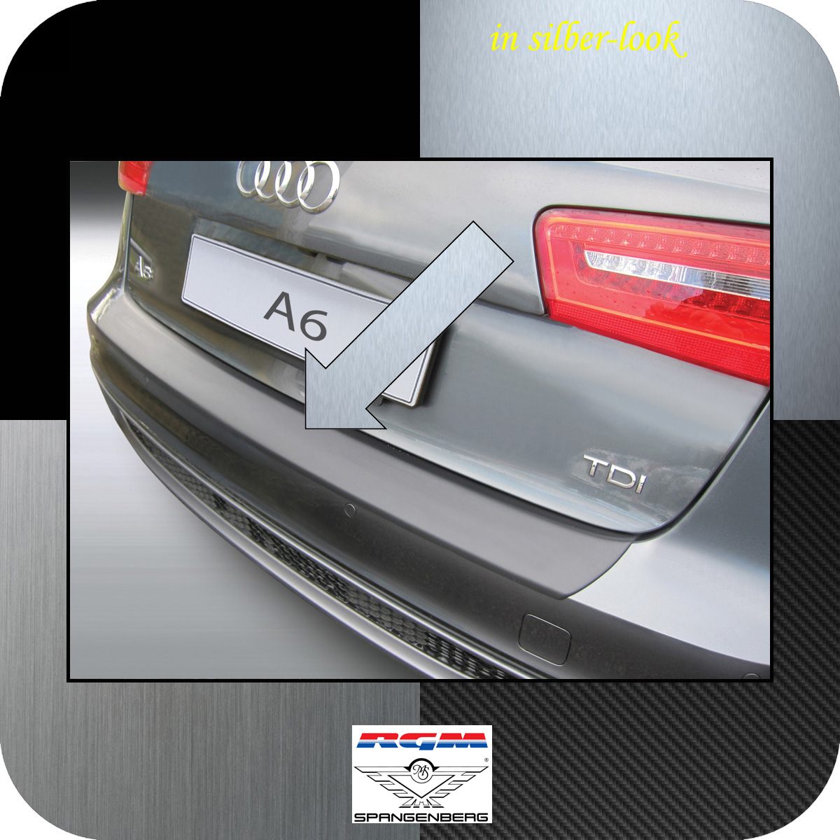 Ladekantenschutz Silber-Look Audi A6 C7 Avant Kombi vor Mopf 2011-2014 3506713