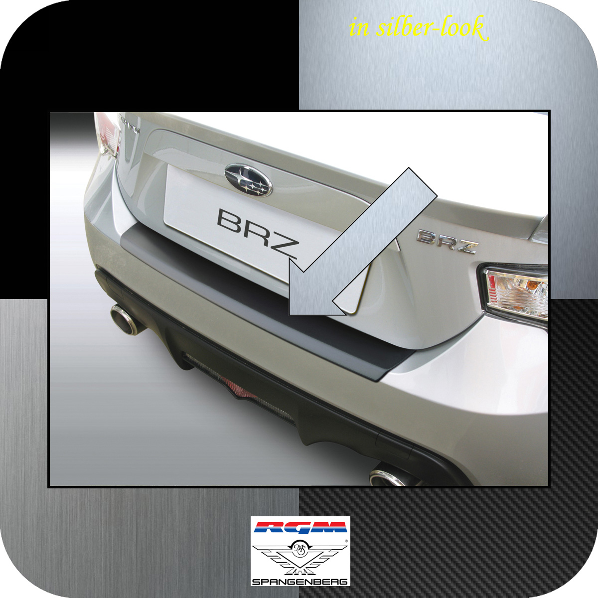 Ladekantenschutz Silber-Look Subaru BRZ Sportwagen Coupe ab Bj 2012- 3506724