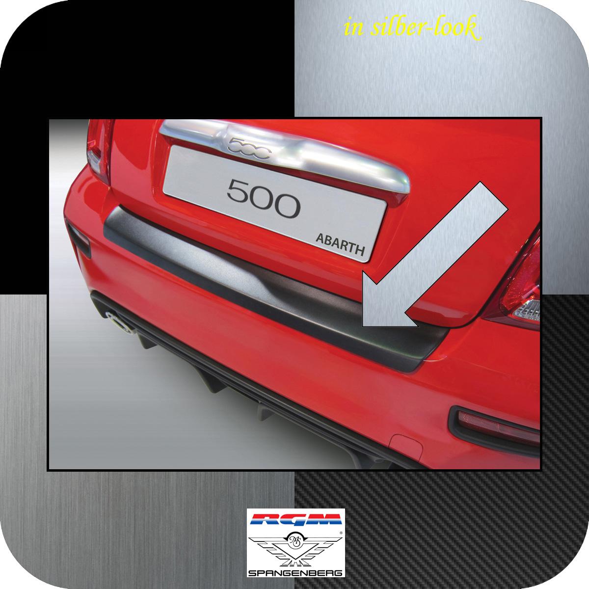 Ladekantenschutz Silber-Look Fiat 500 nur Modelle Abarth ab Bj 2016- 3506935