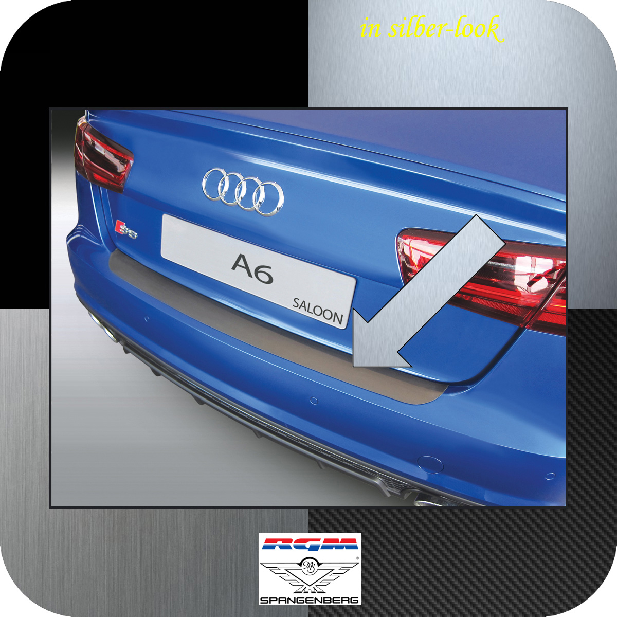 Ladekantenschutz Silber-Look Audi A6 C7 Limo auch RS S6 ab Mopf 2016-18 3506988