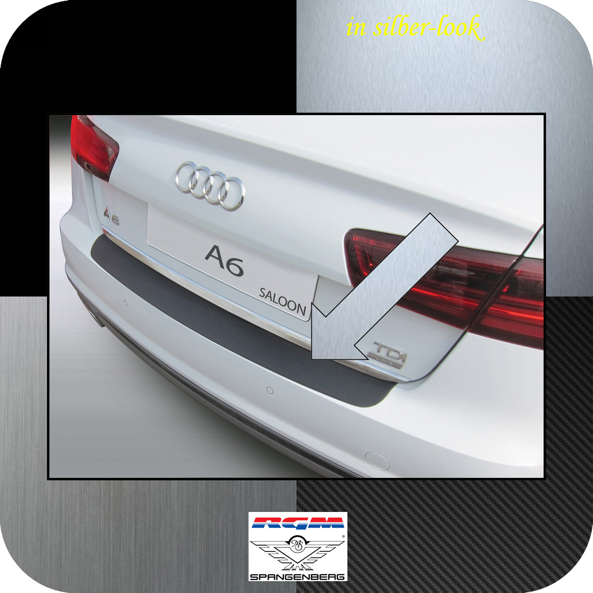 Ladekantenschutz Silber-Look Audi A6 Limousine C7 Baujahre 1.2011-5.2016 3506989