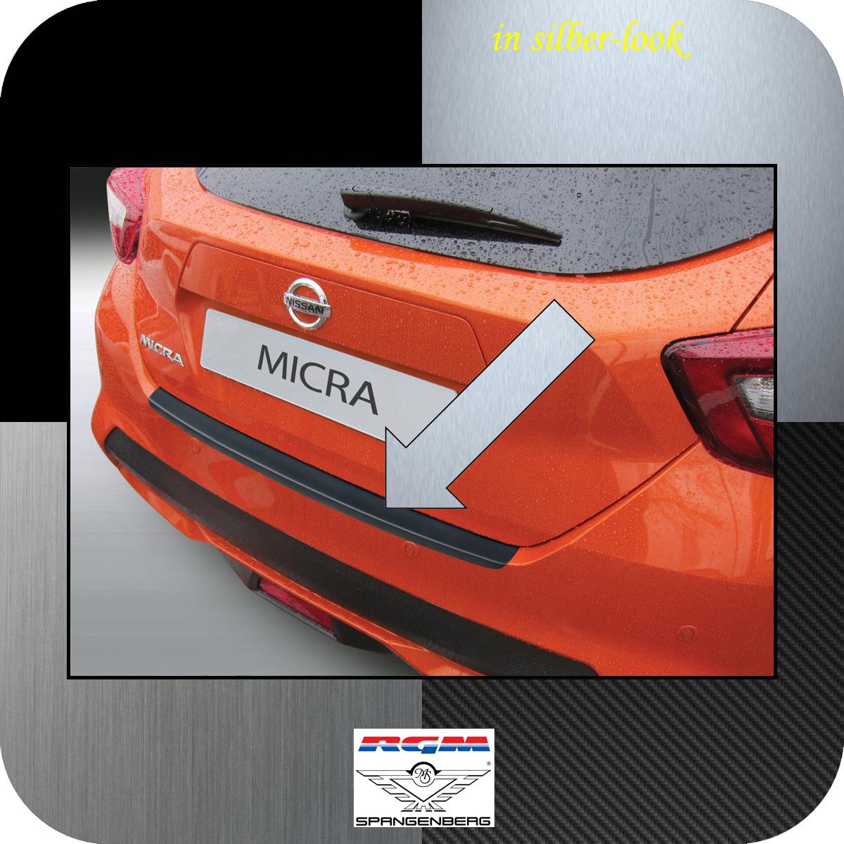 Ladekantenschutz Silber-Look Nissan Micra Schrägheck Typ K14 ab 12.2016- 3506993