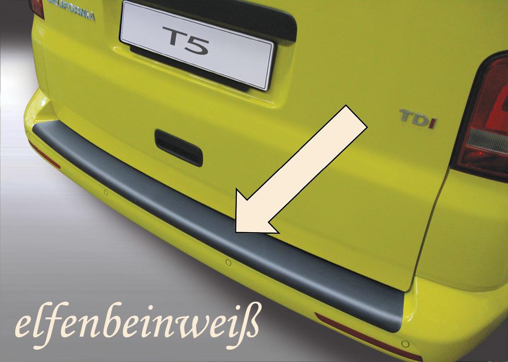 Taxi Ladekantenschutz elfenbeinweiß glatt VW T5 Lackstoßstange 2012-15 3503576
