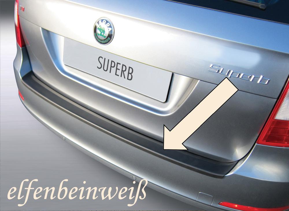 Taxi Ladekantenschutz elfenbeinweiß Skoda Superb II Kombi Mopf 2013-15 3503709